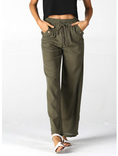 Angie Printed Pants With Buttons (B3344)