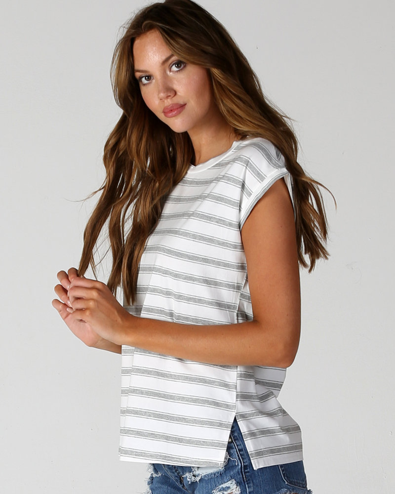Angie Striped T Shirt (X2V31)