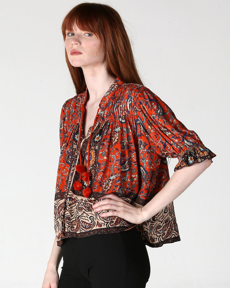 Angie Printed Top (F2205)