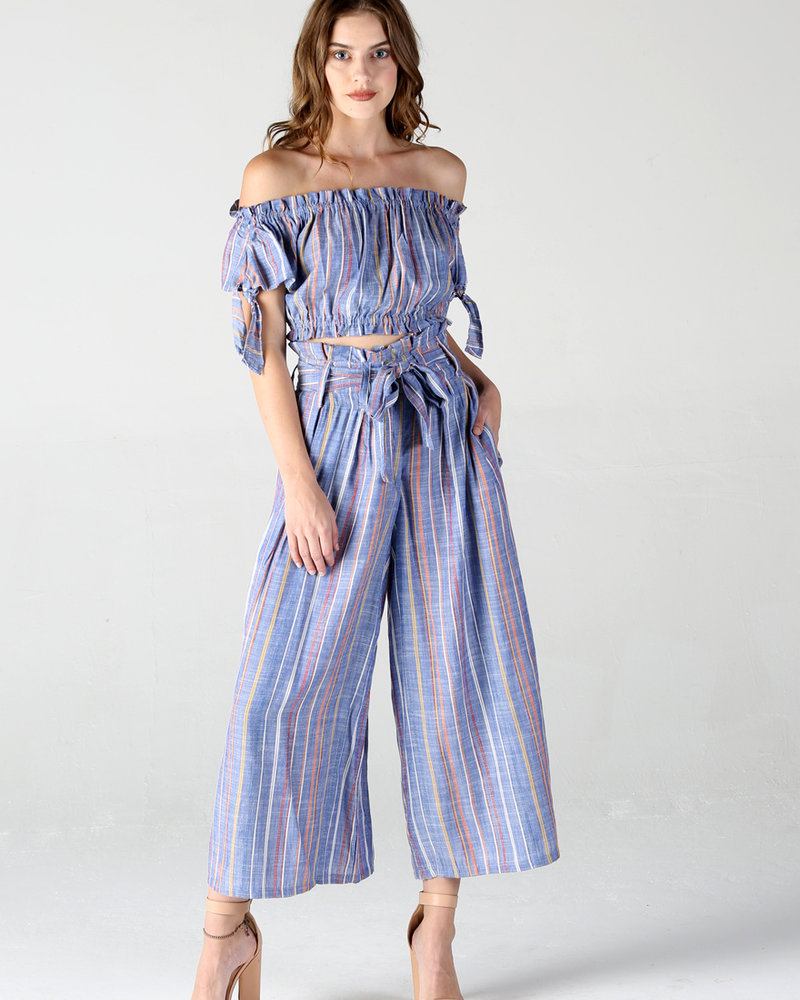Angie Woven Striped Pant (25Q51)