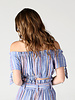 Angie Woven Off The Shoulder Stripe Top (F2080)