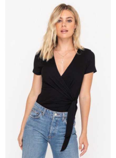 LUSH Short Sleeve Wrap Bodysuit (T14763)