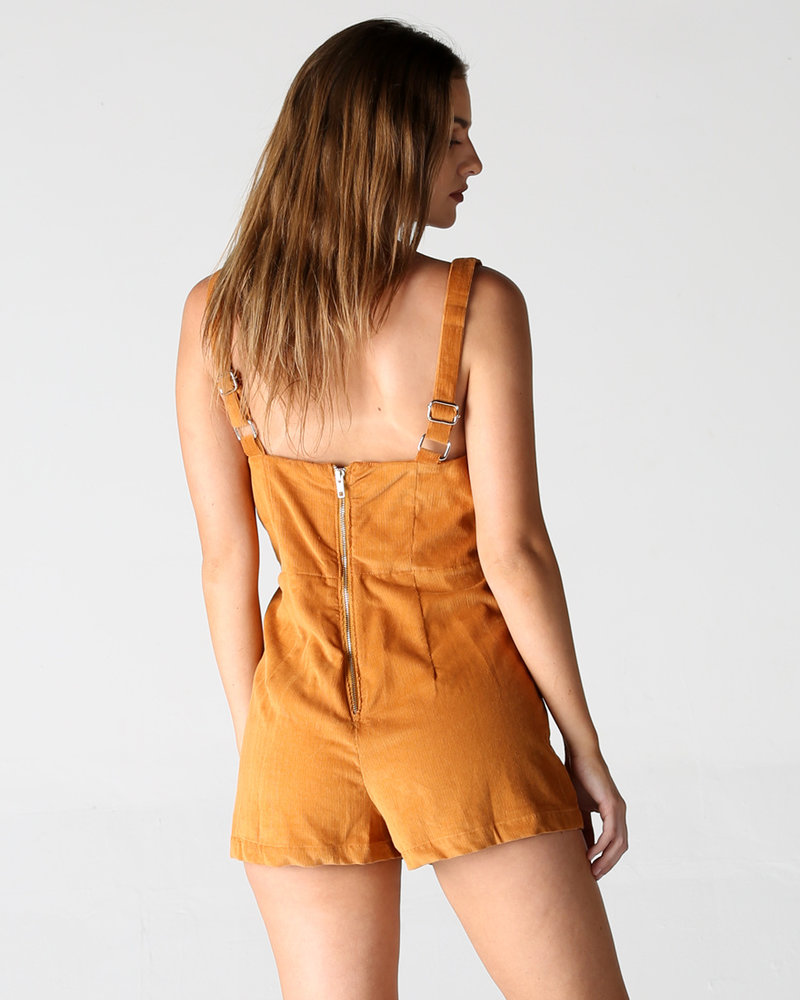 Angie Corduroy Romper With Buttons (Q5V41)