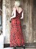 Angie V Neck Spaghetti Strap Dress With Smocked Sides (F4B70)