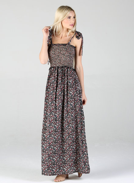Angie Tie Strap Maxi Dress (F4B50)