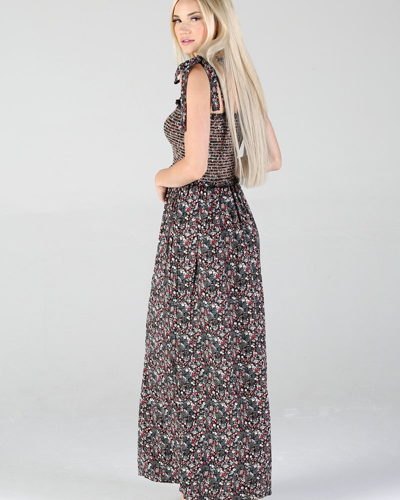 Angie Tie Strap Maxi Dress (F4B50)