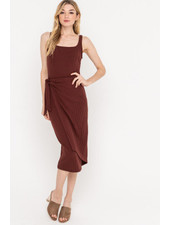 Lush Midi Dress With Skirt Overlay (DR95924)