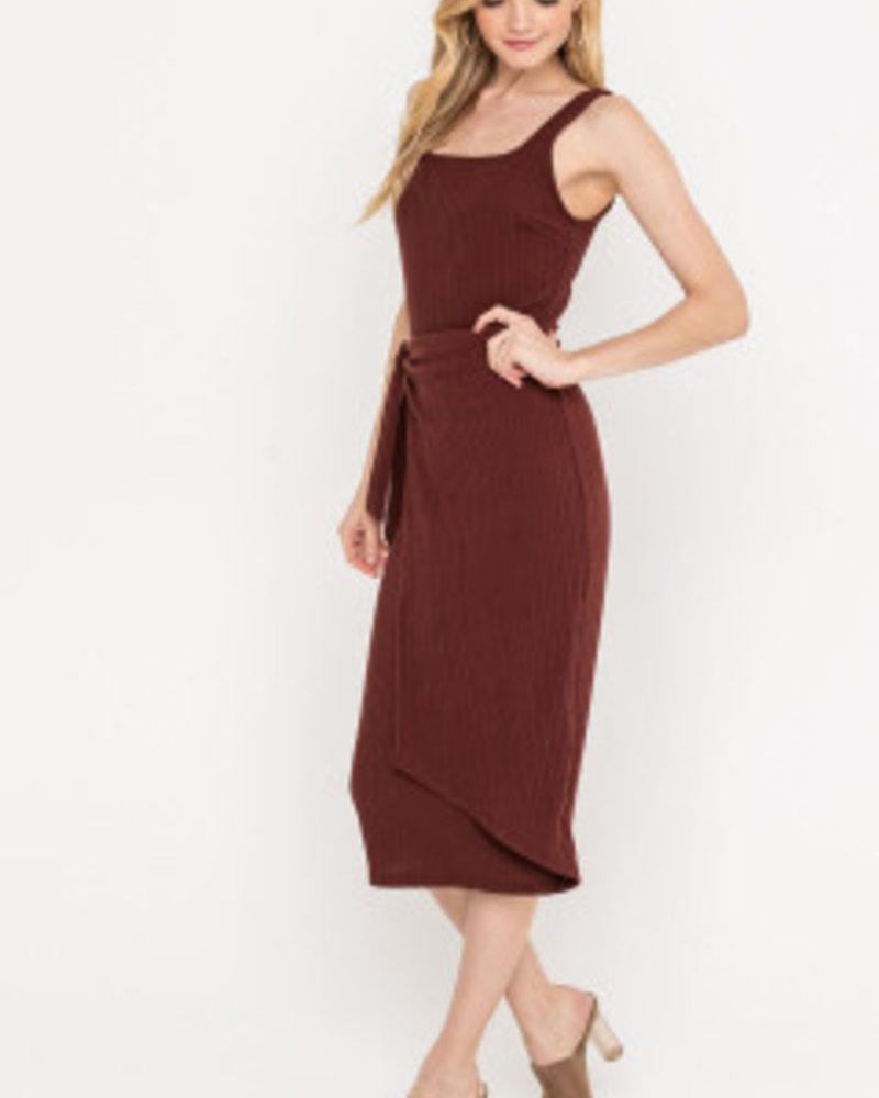 Lush Midi Dress With Skirt Overlay (DR95924)