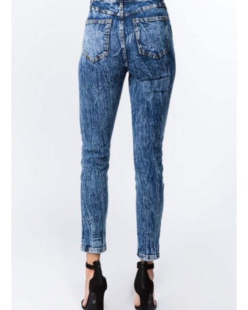 Signature 8 High Rise Acid Denim Jeans (S8673)