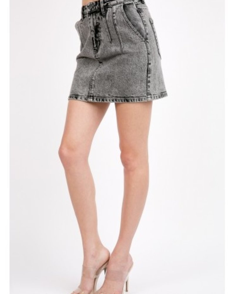 Signature 8 High Waisted Acid Washed Denim (S7468)