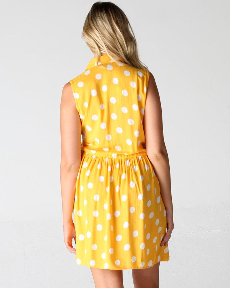 Angie Polka Dot Shirt Dress (F4C61)