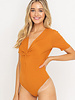 Lush Knotted Front Bodysuit (T14850)