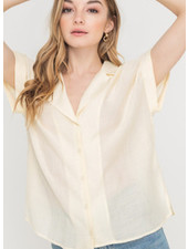 Lush Wide Sleeve Buttoned Top (LT13833A-CI)