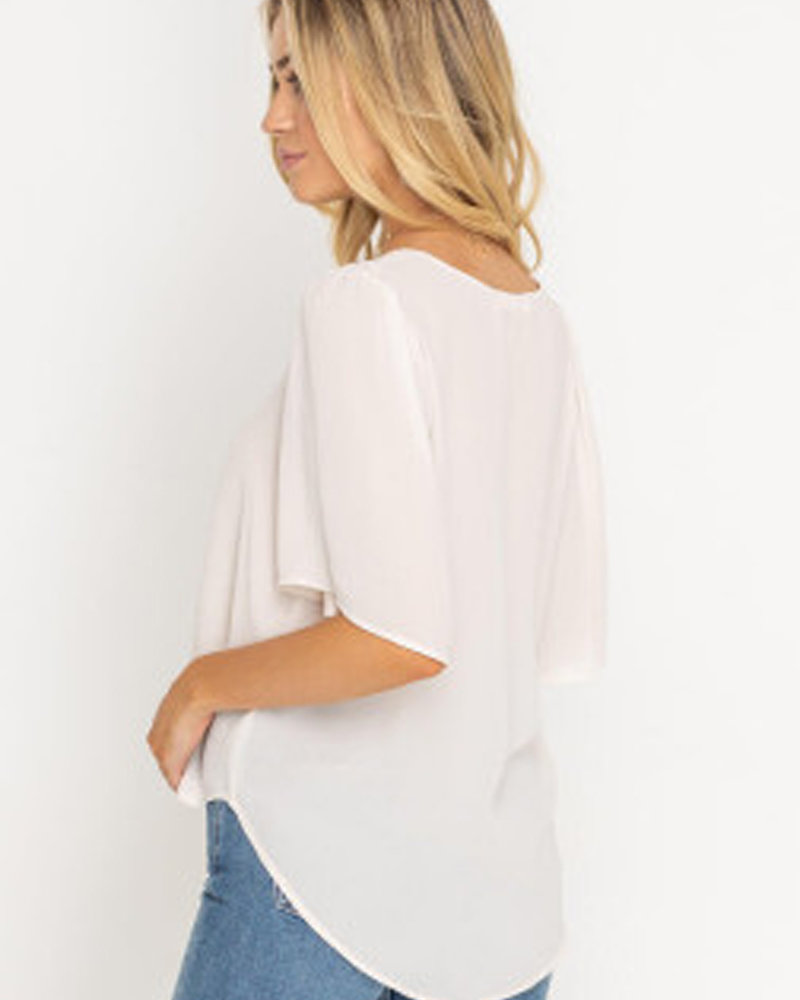 Lush Flutter Sleeve Blouse (T14803-I)