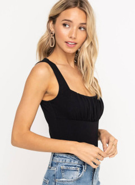 LUSH Ruched Bust Bodysuit (T14905)
