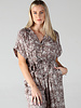 Angie Snakeskin Button Down Romper (B5730)