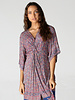 Angie Short Sleeve Twist Front Dress (F4B08)