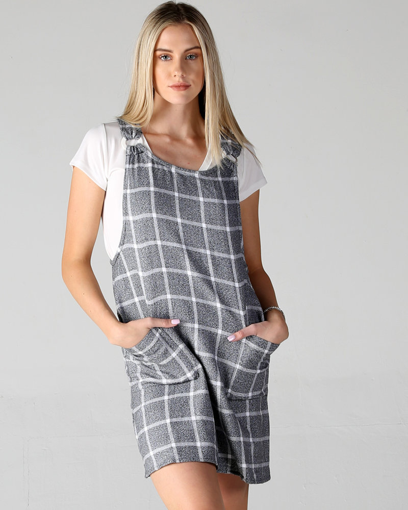 Angie Ring Strap Overall Dress (F4B73)