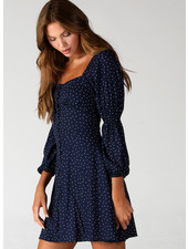 Angie Long Sleeve Polka Dot Dress (F4C65)