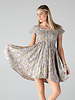 Angie Smocked Bodice SS Mini Dress (F4D53)