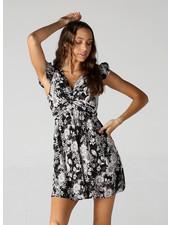 Angie Twist Front Cap Sleeve Dress (F4D70)