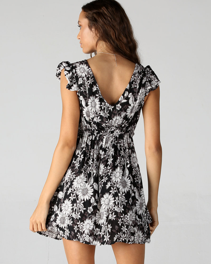 Angie Twist Front Cap Sleeve Dress (F4D70)