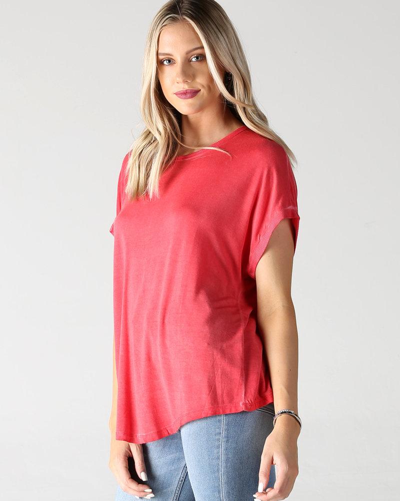 Garment Dye Knit Top (X2AA2)