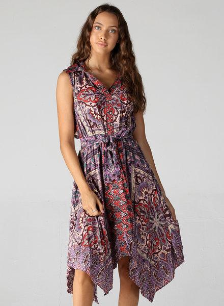 Angie V Neck Scarf Hem Dress (B4WW3)