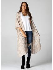 Angie Lurex Threads Mid Lenght Kimono (BJ613)