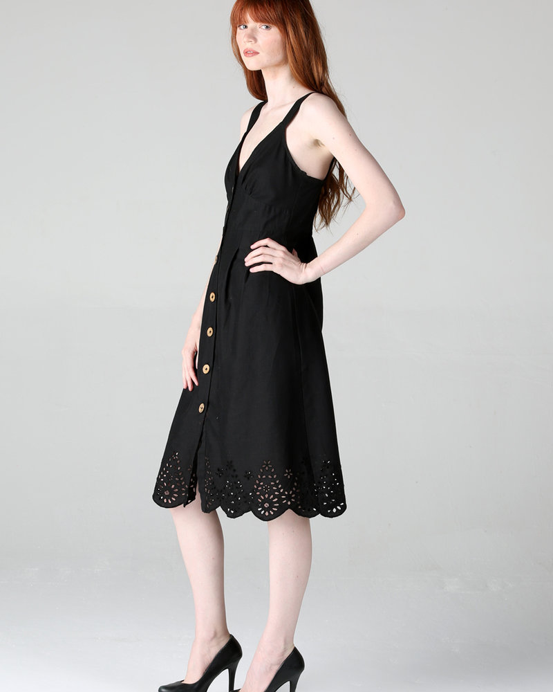 Angie Front Button Up Dress (F4C55)