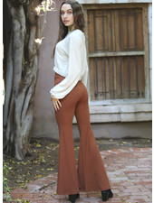 Angie Rib Knit Flare Pants (XP883)