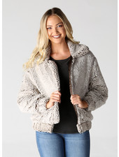 Angie Fuzzy Zip-Up Jacket (SJ947)