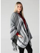 Angie Plaid Wrap With Pockets (SJA22)