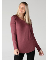 Angie Long Sleeve Thermal Knit Top (X2AA4)