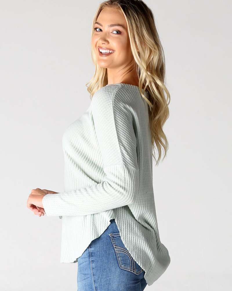 Brushed Thermal V-neck Long Sleeve (X2AA5)