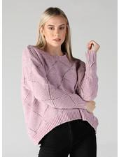 Angie Diamond Design Oversized Chenille Pullover (XHE88)