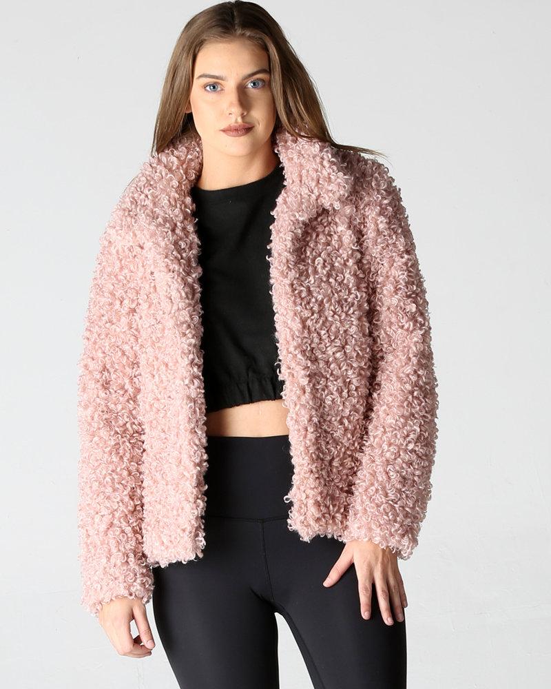 Angie Curly Fur Coat (SJA16)