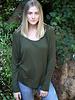 Angie Rib Knit Long Sleeve Slouchy Top (X2N58)