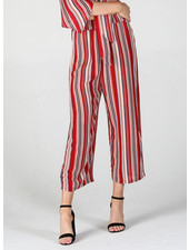 Angie Woven Stripes Wide Leg Pants (XP836)
