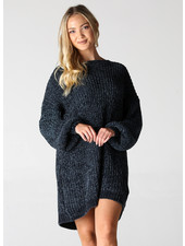 Angie Cheneille Balloon Sweater Dress (X4W48)