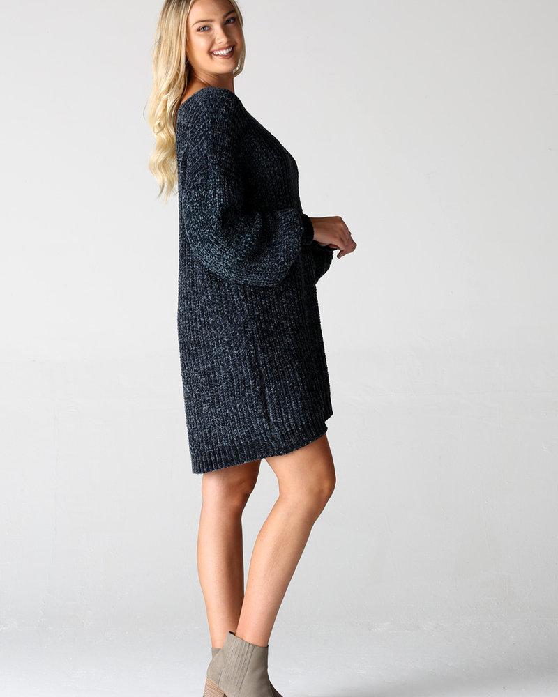 Angie Cheneille Balloon Sweater Dress (X4W48)