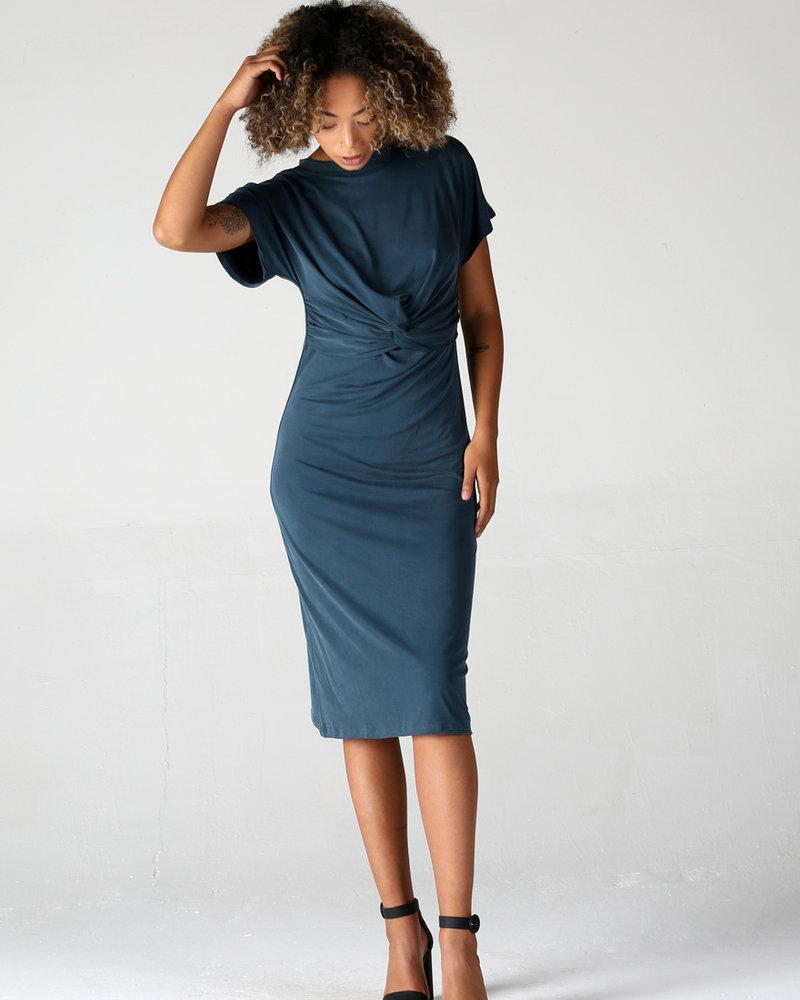 Angie Cupro Knit Twist Dress (X4W69)