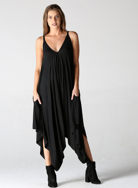 Angie V-neck Knit Harem Jumpsuit (X5099)