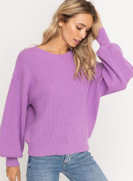 Lush Puff Sleeve Sweater (LT13940-CL)