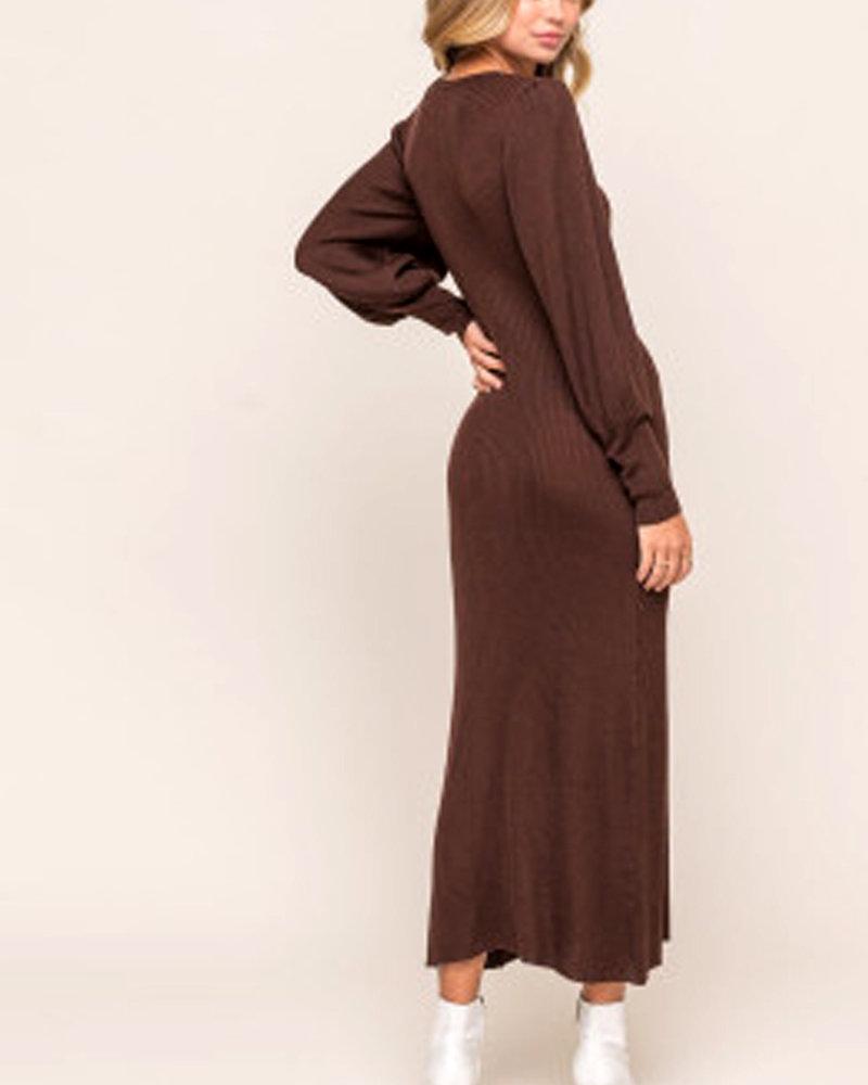 Lush Balloon Sleeve Sweater Dress (LD42921-CL)