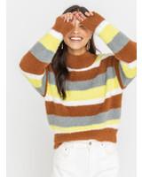 Lush Cozy Striped Knit Sweater (LT13869-CL)