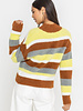 Lush Cozy Striped Knit Sweater (LT13869-CL)