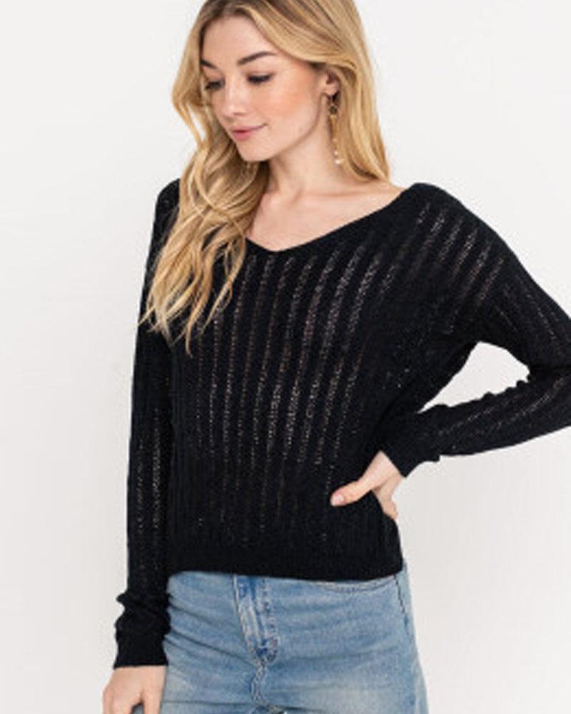 Lush Twist Back Knit Sweater (LT14090-CL)
