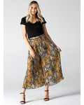 Angie Snake Print Pleated Wide Leg Pant (25R29)