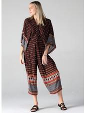 Twist Front Kimono Sleeve Jumpsuit (Q5V24)